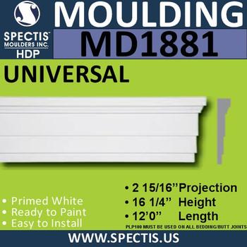 MD1881 Universal Molding Trim decorative spectis urethane