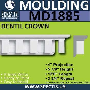 MD1885 Dentil Crown Molding Trim decorative spectis urethane