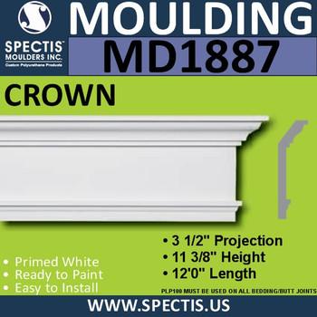 MD1887 Crown Molding Trim decorative spectis urethane