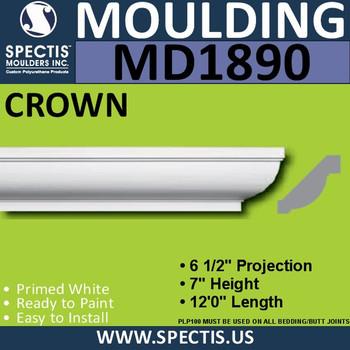 MD1890 Crown Molding Trim decorative spectis urethane