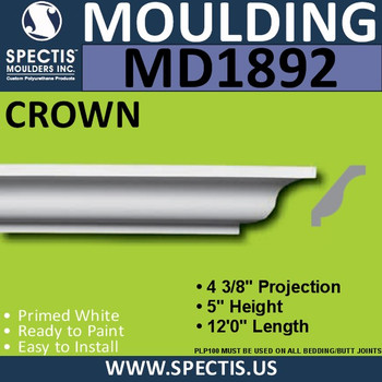MD1892 Crown Molding Trim decorative spectis urethane