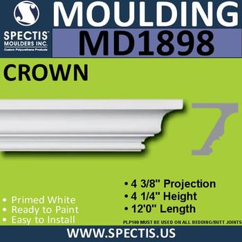 MD1898 Crown Molding Trim decorative spectis urethane