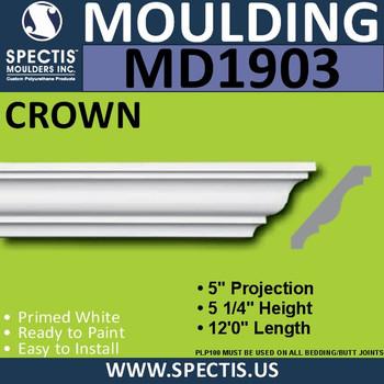 MD1903 Crown Molding Trim decorative spectis urethane