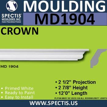 MD1904 Crown Molding Trim decorative spectis urethane