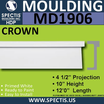 MD1906 Crown Molding Trim decorative spectis urethane