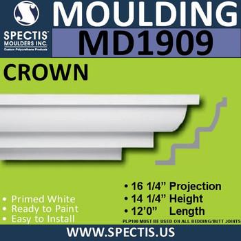MD1909 Crown Molding Trim decorative spectis urethane