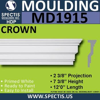 MD1915 Crown Molding Trim decorative spectis urethane