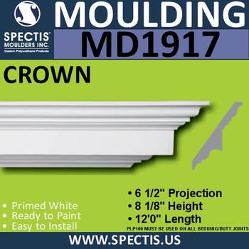 MD1917 Crown Molding Trim decorative spectis urethane