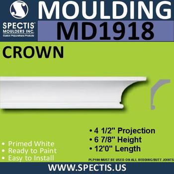 MD1918 Crown Molding Trim decorative spectis urethane