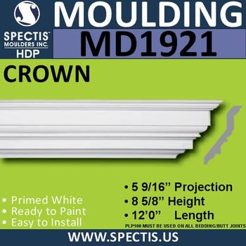 MD1921 Crown Molding Trim decorative spectis urethane