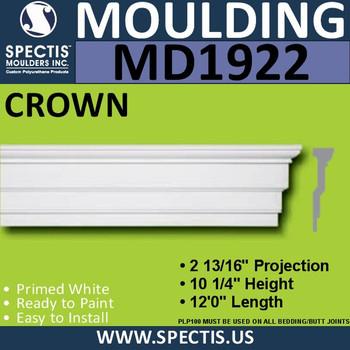 MD1922 Crown Molding Trim decorative spectis urethane