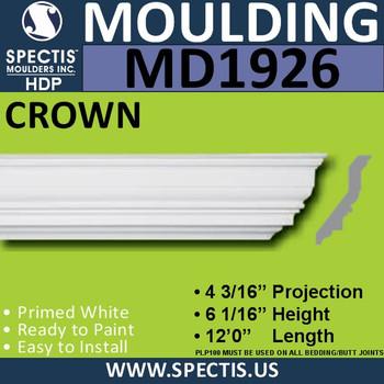 MD1926 Crown Molding Trim decorative spectis urethane