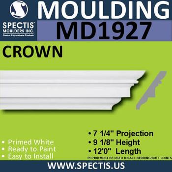 MD1927 Crown Molding Trim decorative spectis urethane