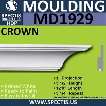 MD1929 Crown Molding Trim decorative spectis urethane