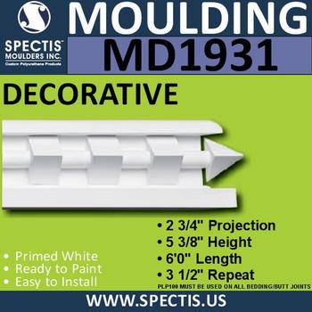MD1931 Decorative Molding Trim spectis urethane
