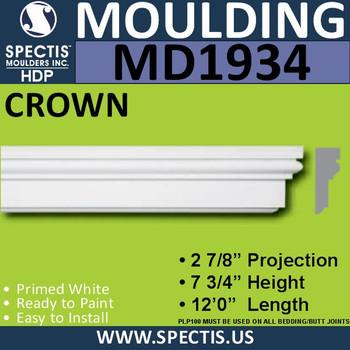 MD1934 Crown Molding Trim decorative spectis urethane