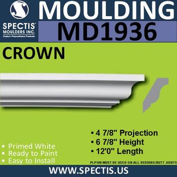 MD1936 Crown Molding Trim decorative spectis urethane