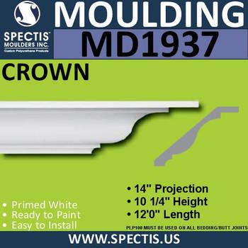 MD1937 Crown Molding Trim decorative spectis urethane