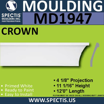 MD1947 Crown Molding Trim decorative spectis urethane
