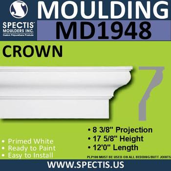MD1948 Crown Molding Trim decorative spectis urethane