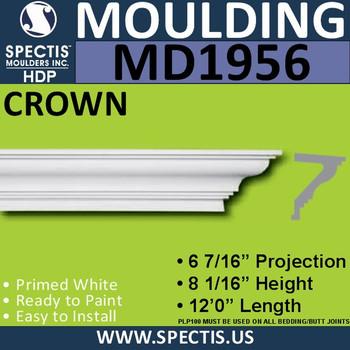 MD1956 Crown Molding Trim decorative spectis urethane