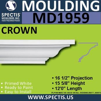 MD1959 Crown Molding Trim decorative spectis urethane