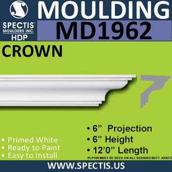 MD1962 Crown Molding Trim decorative spectis urethane