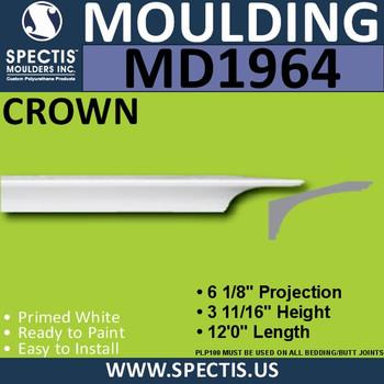 MD1964 Crown Molding Trim decorative spectis urethane