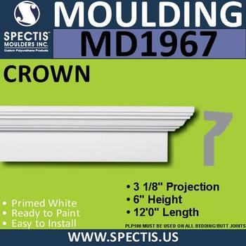 MD1967 Crown Molding Trim decorative spectis urethane