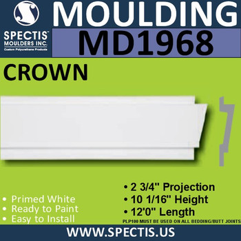 MD1968 Crown Molding Trim decorative spectis urethane