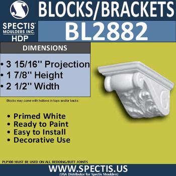 "BL2882 Eave Block or Bracket 3""W x 21.75H x 27.5""P"