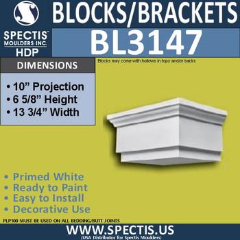 "BL3147 Eave Block or Bracket 13.75""W x 6.62""H x 10""P"