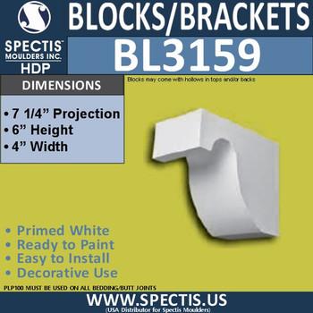 "BL3159 Eave Block 4""W x 6""H x 7.25""P"