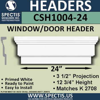 """CSH1004-24 Crosshead for Window/Door 3.25""""P x 12.75""""H x 24""""W"""
