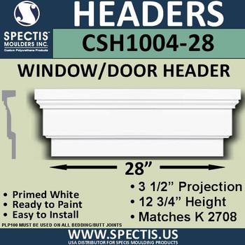 """CSH1004-28 Crosshead for Window/Door 3.25""""P x 12.75""""H x 28""""W"""