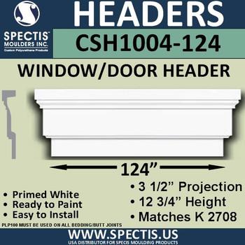 """CSH1004-124 Crosshead for Window/Door 3.25""""P x 12.75""""H x 124""""W"""