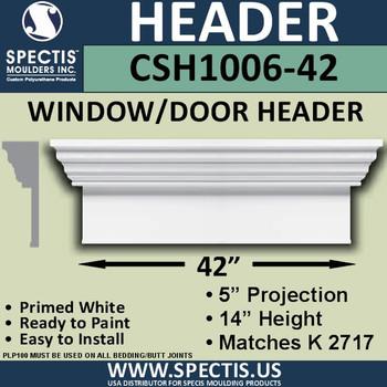 """CSH1006-42 Crosshead for Window/Door 5""""P x 14""""H x 42""""W"""
