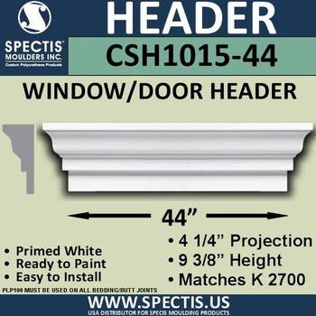 """CSH1015-44 Crosshead for Window/Door 4.25""""P x 9.375""""H x 44""""W"""