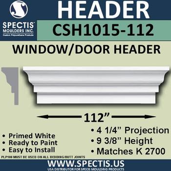 """CSH1015-112 Crosshead for Window/Door 4.25""""P x 9.375""""H x 112""""W"""