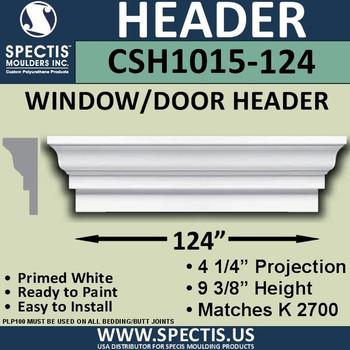 """CSH1015-124 Crosshead for Window/Door 4.25""""P x 9.375""""H x 124""""W"""