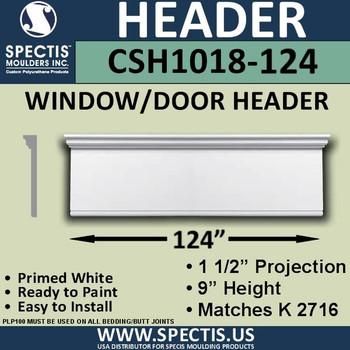 """CSH1018-124 Crosshead for Window/Door 1.5""""P x 9""""H x 124""""W"""