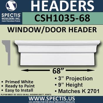 """CSH1035-68 Crosshead for Window/Door 3""""P x 9""""H x 68""""W"""