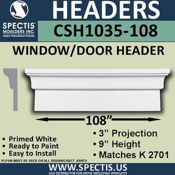 """CSH1035-108 Crosshead for Window/Door 3""""P x 9""""H x 108""""W"""