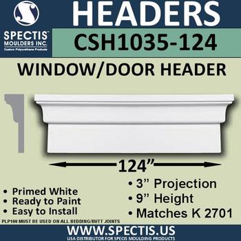 """CSH1035-124 Crosshead for Window/Door 3""""P x 9""""H x 124""""W"""