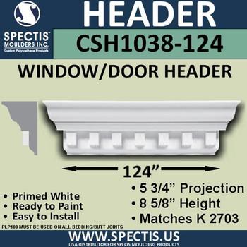 """CSH1038-124 Crosshead for Window/Door 5.75""""P x 8.625""""H x 124""""W"""
