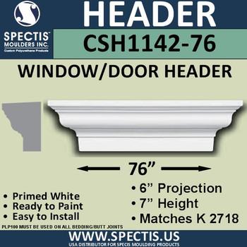 """CSH1142-76 Crosshead for Window/Door 6""""P x 7""""H x 76""""W"""
