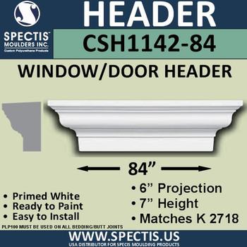 """CSH1142-84 Crosshead for Window/Door 6""""P x 7""""H x 84""""W"""