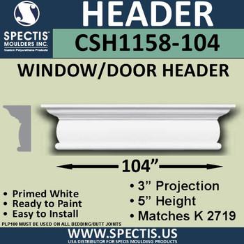 """CSH1158-104 Crosshead for Window/Door 3""""P x 5""""H x 104""""W"""