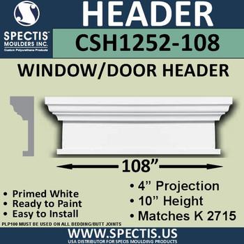"""CSH1252-108 Crosshead for Window/Door 4""""P x 10""""H x 108""""W"""