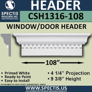 """CSH1316-108 Crosshead for Window/Door 4.25""""P x 9..375""""H x 108""""W"""